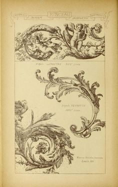 Materials and documents of architecture and sculpture : classified alphabetically Classic Architecture, Architecture Drawings, Ornament Drawing, Carving Designs, Gravure, Design Elements, Art Reference, Art Nouveau, Vintage World Maps