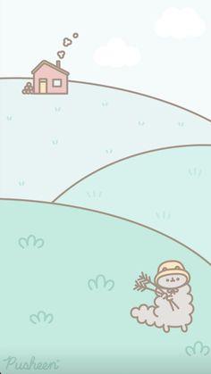 Pusheen the cat iphone wallpaper Cute Animal Drawings, Cartoon Drawings, Cute Drawings, Pusheen Love, Pusheen Cat, Kawaii Background, Cat Background, Background Images, Cute Pastel Wallpaper