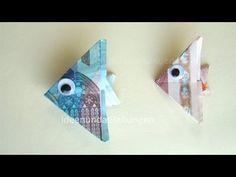 Geldscheine falten Fisch - Geldgeschenke basteln - Geld falten Ideen - YouTube
