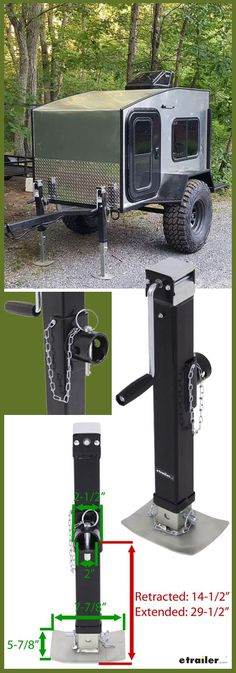 This utility jack is going to let you raise and lower your trailer. It's going to feature a lift capacity of 7000 pounds and a support capacity of 8000 pounds. It's going to feature the tubular swivel design that's going to let you swing the jack up along the trailer frame for a stowed position, and it's going to allow you to bring it back down for use.