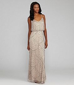 Scallop Beaded Gown.  love the beading