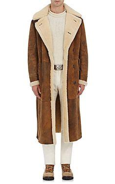 Ralph Lauren Purple Label Suede & Shearling Coat - Coats - 504691427