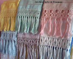 barras de macrame veja alguns modelos de barras de macrame sao toalhas ...