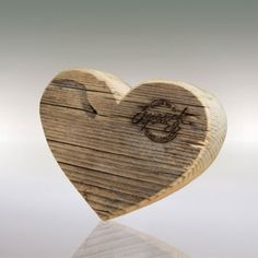 Ancient Love - a heartily tough in look made of - at least years old. - as a sign of and for each other - as decoration, or for Konsum Love S, Rustic Wood, Presents, Place Card Holders, Retro, Handmade, Gifts, Faith, Sign