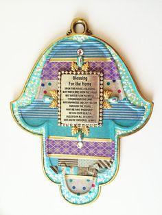 Hamsa Navy Blue Blessing Home Gift from Israel by IrinaSmilansky, $59.99