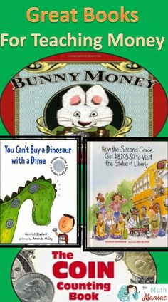 Check out these great books for teaching students about money.  From counting coins to spending responsibly you will expose your students to many new ideas with these books.