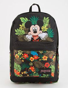 Kids Mickey Mouse Floral and Black Backpack | Tillys