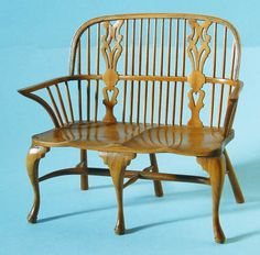 1:12 scale Double Bow Settee, Colin Bird Miniature Furniture