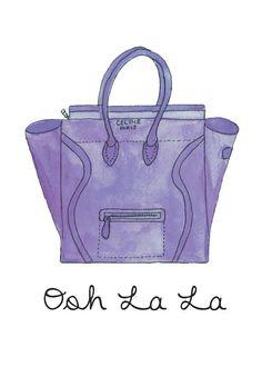 Celine Luggage Tote Illustration Fashion by AllThingsPrettyBlog