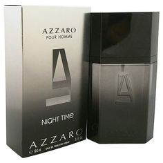 Azzaro Pour Homme Night Time - http://www.perfumes.com/azzaro-pour-homme-night-time-loris-azzaro-men-3-4-oz/ - Launched by Loris Azzaro in the year 1978. This refreshing spicy fragrance features a blend of wood, musk, lavender, basil, and sandalwood. It is recommended for office wear.