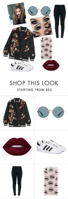 """Untitled #1"" by laumarc ❤ liked on Polyvore featuring Alice + Olivia, Ray-Ban, adidas and Rebecca Minkoff"