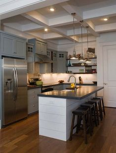 Not my favorite kitchen, but the color combination is something to consider