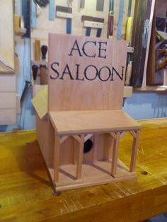 A birdhouse my daughter requested.  Ye Olde Woodworker on facebook.
