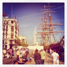 Clipper Stad Amsterdam for SALON/istanbul in Karakoy Harbour 13-21 October