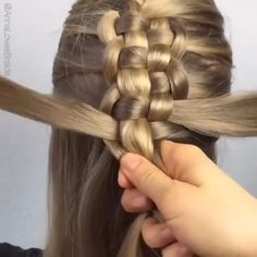 Such a pretty hairstyle idea by Easy Hairstyles For Long Hair, Braids For Long Hair, Up Hairstyles, Pretty Hairstyles, Braided Hairstyles, Medium Hair Styles, Long Hair Styles, Hair Upstyles, Hair Videos