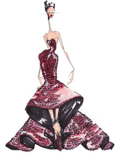 J.Larkowsky Illustration | Love You and Leave You - Alexander McQueen Fall 2012