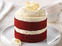 Mini version of Cheesecake Factory Red Velvet Cheesecake dessert