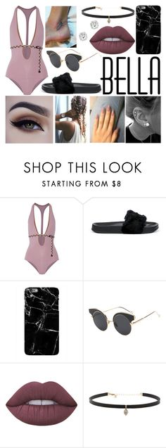"""""""Day By The Pool"""" by susanna-trad ❤ liked on Polyvore featuring Eres, Puma, Harper & Blake, Lime Crime and Carbon & Hyde"""