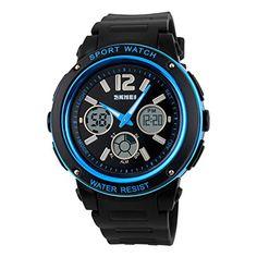 Tangda SKMEI Damen Herren Unisex Armbanduhr Elektronische Sport Uhren Wasserdichte Schule Uhr Child Watch Quarzuhr - Blau - http://uhr.haus/skmei-12/tangda-skmei-damen-herren-unisex-armbanduhr-uhr-2