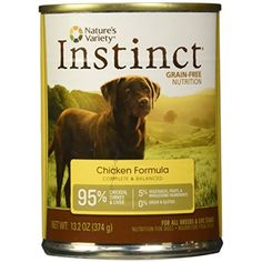 Nature's Variety Instinct, Grain-Free Canned Dog Food, Chicken, 13.2 Ounces (Single Can) @ You can check out the image by visiting the link. (This is an affiliate link and I receive a commission for the sales)