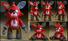 Five Nights At Freddy - Old Foxy Plush by roobbo.deviantart.com on @DeviantArt