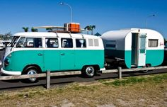 VW Van and Trailer WITH Surf board