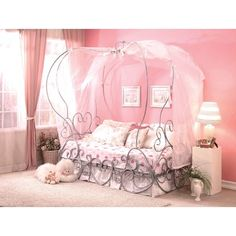Shop Acme Furniture Priya Silver Twin Canopy Bed with great price, The Classy Home Furniture has the best selection of Kids Beds to choose from Full Size Canopy Bed, Twin Canopy Bed, Princess Canopy Bed, Princess Room, Full Bed, Princess Carriage Bed, Cinderella Carriage, Canopy Bedroom, Cinderella Party