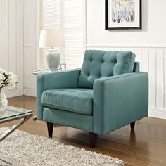 Fabris Armchair in Light Blue - Unique Modern Furniture - Dot & Bo