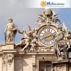 Vatican City is the only nation in the world that can lock its own gates at night. It has its own phone company, radio, T. stations, money, and stamps. Phone Companies, Vatican City, Gates, Big Ben, Stamps, Clock, Money, Night, World