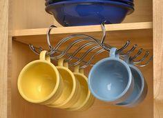 Under the Shelf Cupholder - kitchen storage solutions