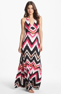 FELICITY & COCO 'Jesenia' Print Halter Maxi Dress (Nordstrom Exclusive) available at #Nordstrom