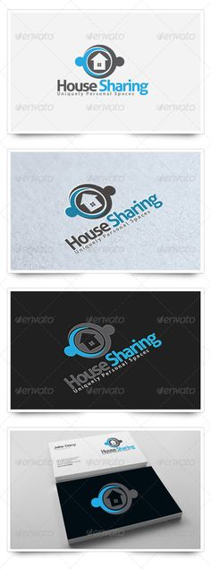 House Sharing by legendlogo Logo Description:The logo is Easy to edit to your own company name.The logo is designed in vector for highly resizable and printin