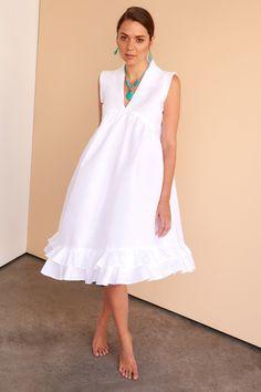 8664d704b6e 92 Great White linen dresses images in 2019