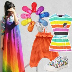 Suzie Bubble inspires rainbow colored outfits for kids // www.kid-a.gr #kids