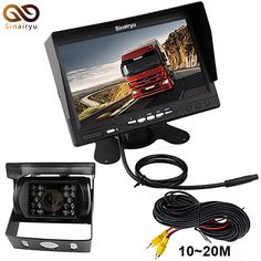 best price sinairy dc 12v 24v 7 inch tft lcd car monitor ir night vision ccd rear view camera for vehicle #trailer #car