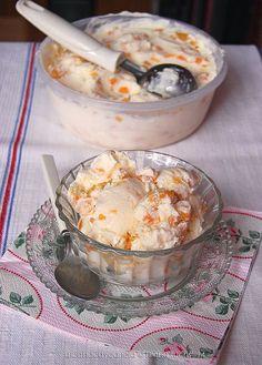 Receta de helado de yogur con melocotón  Pinterest ;)   https://pinterest.com/cocinadosiempre