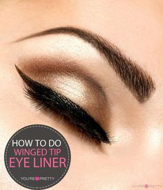 How to do perfect winged tip eyeliner