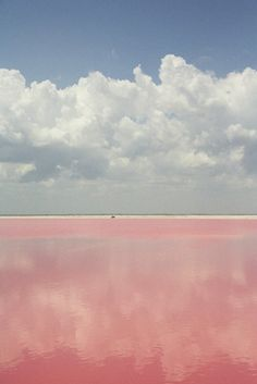 Lac Rose, pink lake in Senegal. Allows you to float due to high salt level and is often the finishing point of the Dakar rally. Quite peculiar place!