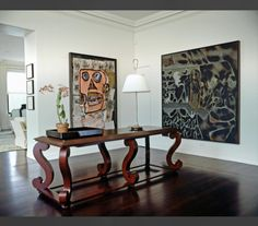 Pair of large scale artworks  NYC apt, Vicente Wolf