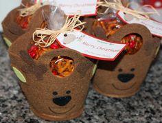 Cinnamon Sugar Reindeer Pretzels