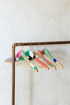 DIY Yarn Wrapped Hangers