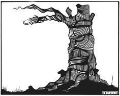 Um tronco.