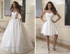 Convertible Wedding Dress <3 greatest idea!