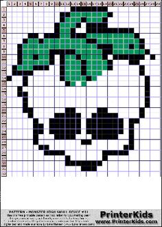 Monster High - Deuce Skull Logo - 41 pattern