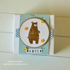 Schachtel mit einem Braunbären