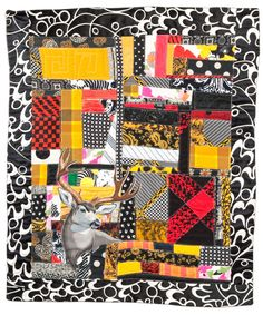 Buck, Border & Beyond (2012). Designed, pieced and quilted by Betty Anne Guadalupe. Photography by Jeremy Koons.
