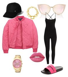 """""""Untitled #4"""" by teneshiacampbell on Polyvore featuring Ralph Lauren, Givenchy, H&M, Lime Crime, River Island and Akribos XXIV"""