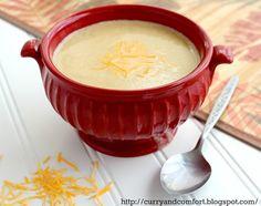 Cauliflower Cheddar Cheese Soup