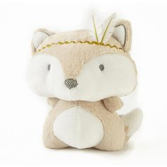 Babies R Us Exclusive. The adorable Little Feather Fox plush features a soft faux fur texture with a metallic gold headband and felt feathers. The Little Feather Fox plush is the perfect companion for your little one!<br><br>The Levtex Baby Little Feather Fox Plush Features:<br><ul><li>Features a soft faux fur texture with a metallic gold headband and felt feathers</li><br><li>The Little Feather Fox plush is the perfect companion for your little one!</li><br><li>Makes for a great gift…