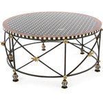 Mackenzie-Childs Honeycomb Round Coffee Table